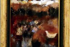 大久保加代子 油彩画 「想(秋の日)」