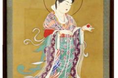 青木登和子 油彩画 「薬師寺吉祥天(復元模写)」