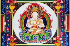 青木登和子 油彩画 「私の仏さま(最終章)」