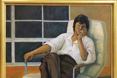 中島玲子 油彩画 「眠る人」