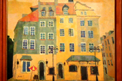 田島純子 油彩画 「ワルシャワ旧市街」