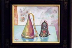 高須悦子 油彩画 「鈴2」